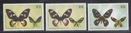 Papua New Guinea  Butterflies  3v  MNH #  93721 - Farfalle
