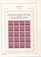 Liechtenstein 1984 Two Complete Sheets Europa CEPT - MNH/** (H25) - Europa-CEPT