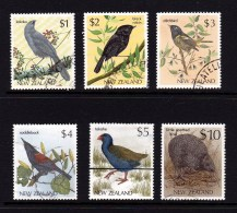 New Zealand 1982 - Birds 6 High Values Used - Used Stamps