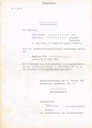 Ausfertigung - Beschluss - Berlin-Schöneberg 1974 - Vieux Papiers
