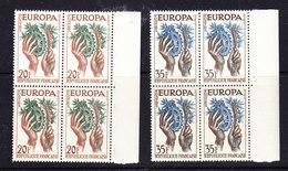 Europa Cept 1957 France 2v Bl Of 4 ** Mnh (36099) - Europa-CEPT