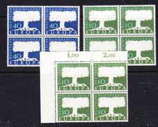 Europa Cept 1957 Germany 2+1v (1v Mit Wasserzeichen)  Bl Of 4  ** Mnh (36099) - Europa-CEPT