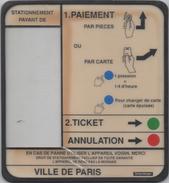 Panneau Mode D'Emploi Horodateur : Les Années 1990 Paris - Autres Collections