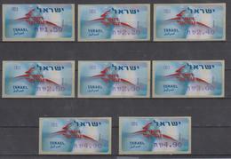 ISRAEL 2006 KLUSSENDORF SIMA FRAMA ATM POST DEER FULL SET OF 8 STAMPS - Viñetas De Franqueo (Frama)