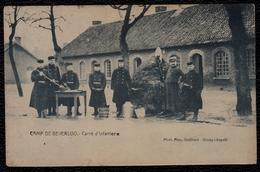 BEVERLOO - PERIODE 1890/1900 - CARRE D'INFANTERIE - CAMP DE BEVERLOO - ZELDZAME éditie Gotthold - Leopoldsburg (Kamp Van Beverloo)