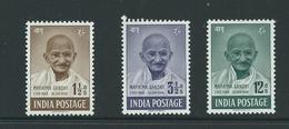 India Ghandi 3 Values Hm Fresh Stamps Cv£44 - Ungebraucht