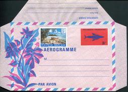 POLYNESIE FRANCAISE - AEROGRAMME N° 3 * * - SIGLE DES PTT , AVEC N° 136 EN COMPLEMENT D'AFFR. - NEUF - LUXE & RARE - Aérogrammes