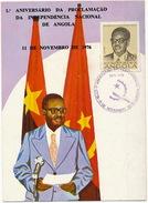 1o Aniversario Da Proclamaçao Da Independencia De Angola 11 De Novembro 1976 Agostinho Neto Format 10/15 - Angola