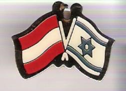 Freundschafts-Pin Doppelflagge Österreich - Israel - Pin's & Anstecknadeln