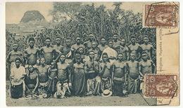 Indigenes Mayamba En Fete Congo Used From Loanda Angola To Bucarest Romania Hommes Et Femmes Nus - Angola