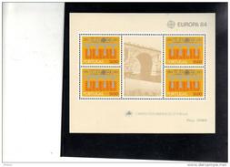 PORTUGAL Y&T BL 44 1984  ** MNH. (LT21) - Europa-CEPT