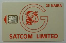 NIGERIA - Schlumberger - 1st Satcom Trial - 25 Naira - Used - Nigeria