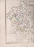 CARTE POUR SERVIR A L'HISTOIRE DE L' ALLEMAGNE DE 1648 A 1803 DRESSEE PAR L DUSSIEUX 1854 - LIGUE DU RHIN / GRANDS ETATS - Landkarten