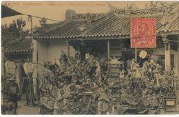 1693 Phnom Penh Fete Chinoise à La Pagode Cachet Corps D' Occupation De Chine Poste Shanghai - Cambodge