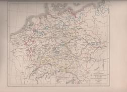 CARTES POUR SERVIR A L'HISTOIRE DE L'EMPIRE D' ALLEMAGNE DRESSEES PAR L DUSSIEUX EN 1855 - 1453 à 1618 / 1618 à 1648 - Landkarten