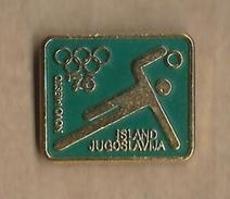 Handball Match  Yugoslavia Vs Island 1976.Novo Mesto Slovenia.Olympic Qualification. Sport Badge - Handball