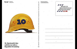 CROATIA, 2016, MINT, POSTAL STATIONERY, WORKER SAFETY, PREPAID POSTCARD - Jobs
