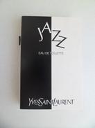Tigette Ou  Tube De Parfum De Collection Echantillon 2 Ml -  Yves Saint Laurent YSL Eau De Toilette JAZZ - Miniatures Hommes (avec Boite)