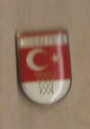 Basketball Pin.Turkish Basketball Federation. Turkey Basketball .old Pin - Basketbal