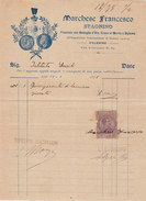"""PALERMO  _ 1926  /  STAGNINO  """" MARCHESE FRANCESCO """" _ Marca Da Bollo Su Fattura - Italia"""