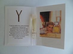 Tigette Ou Tube De Parfum De Collection Echantillon 2 Ml -  Yves Saint Laurent YSL Eau De Toilette Y - - Miniatures Modernes (à Partir De 1961)