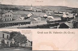 Austria - Amstetten - St. Valentin - Cartolina Viaggiata Inizi '900 - Panorama - Amstetten