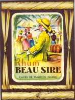 1  ETIQUETTE  RHUM BEAU SIRE GRAND FORMAT - Rhum