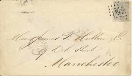 NVPH Nr. 22 Op Brief Van Rotterdam Naar Manchester (05-01-1891) - Periode 1891-1948 (Wilhelmina)
