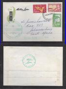 Tonga 1964 NIUAFOO ISLAND TIN CAN ISLAND CANOE MAIL S.S. MONTEREY MARSTON LINES > S.Africa - Tonga (...-1970)