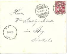 Brieflein  Zürich Wipkingen - Steg Tössthal          1905 - 1882-1906 Wappen, Stehende Helvetia & UPU