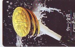 Télécarte Japon * Pièce De Monnaie (153) Money * Coin Munten Munzen * Geld * PHONECARD JAPAN * TK WIENER PHILHARMONIKER - Timbres & Monnaies