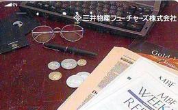 Télécarte Japon * Pièce De Monnaie (155) Money * Coin Munten Munzen * Geld * PHONECARD JAPAN * TK * - Timbres & Monnaies