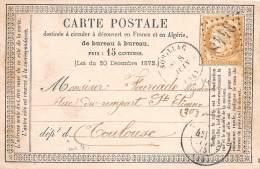 THEMES - PRECURSEUR / Format 12 X 8 Cm - Souillac - 1875 - Cartoline