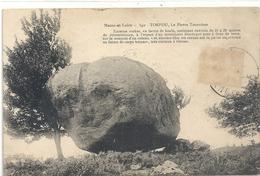 340. TORFOU . LA PIERRE TOURNISSE+ HIST . TIMBRES DECOLLES RECTO/VERSO . 1911 . 2 SCANES - France