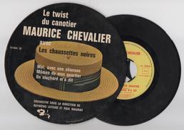 Maurice Chevalier Avec Les Chaussettes Noires. Eddy Mitchell. 45t. Twist. Rare ! - Vinyl Records