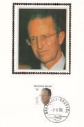 FDC - BAUDOUIN Sur Soie/zijde - Carte Philatélique - Timbre N° 2382 - 1981-90