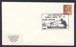 Great Britain 1978 Cover / Brief - 40th Ann. World Speed Record - Steam Traction / Weltgeschwindigkeitsrekord - Dampflok - Treinen
