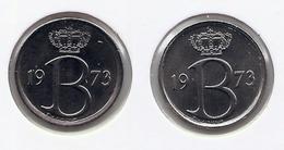 25 Cent 1973 Frans+vlaams * Uit Muntenset * FDC - 1951-1993: Baudouin I