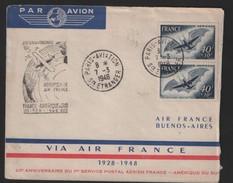 Air France 1948  Amérique Du Sud  Pa 23 - Poste Aérienne