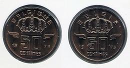 50 Cent 1973 Frans+vlaams * Uit Muntenset * FDC - 03. 50 Centiem