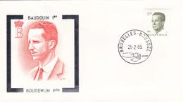 FDC - BAUDOUIN 1er  Illustré Par De Vos (orange)  - Timbre N° 2160 - 1981-90