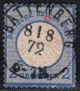 Battenberg 8/8 72 Auf 2 Groschen Blau - DR Nr. 5 - Pracht - Oblitérés