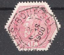 BELGIQUE Telegraphe / Telégraphes 1897, Leopold II , Yvert N ° 16, 1 F Rose Obl ANVERS BOURSE  TB - Télégraphes