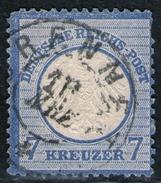 Brennet 18 MRZ Auf 7 Kreuzer Blau - DR Nr. 10 - Oblitérés