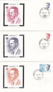 Série De 3 FDC - BAUDOUIN 1er  Illustrés Par De Vos  - Timbres N° 2135/7 - 1981-90