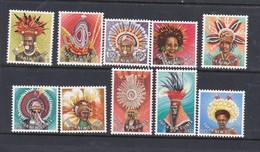 Papua New Guinea SG 318-327 1977 Headdresses  MNH - Papua New Guinea