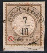Seitschen 7 III Auf 5 Groschen Ockerbraun - DR Nr. 22 Mit Abart - Kabinett - Oblitérés