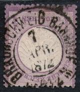Braunschweig Bahnhof 7. APR 72 Auf 1/4 Groschen Lila - DR Nr. 1 - Pracht - Oblitérés