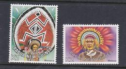 Papua New Guinea SG 328-329 1977 Headdresses MNH - Papouasie-Nouvelle-Guinée