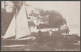 Riverside, St Clement Near Truro, Cornwall In 1894 - Repro Postcard - Other